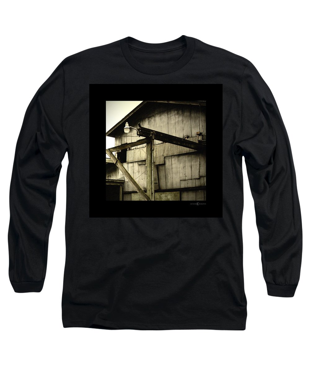 Corrugated Long Sleeve T-Shirt featuring the photograph Security Light by Tim Nyberg
