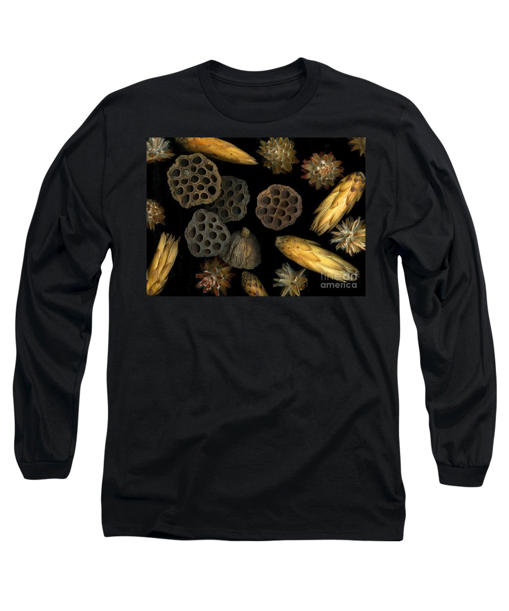 Pods Long Sleeve T-Shirt featuring the photograph Seeds And Pods by Christian Slanec