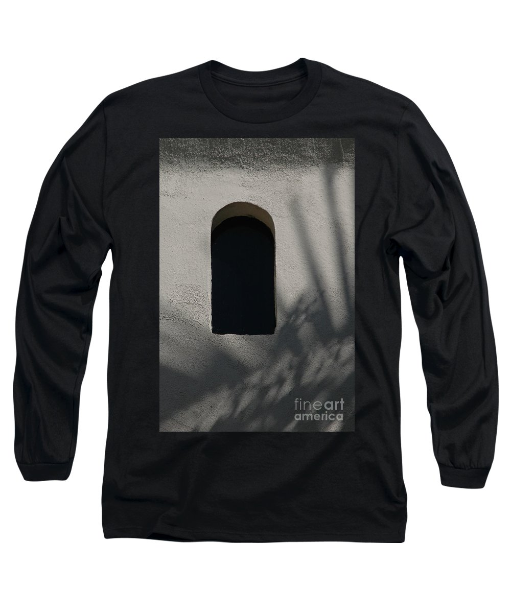 Window Long Sleeve T-Shirt featuring the photograph Shadows On The Wall by Michael Ziegler