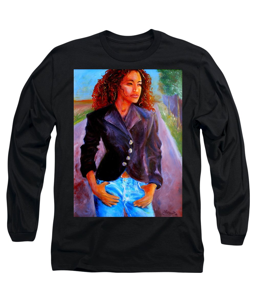 Acrylic Long Sleeve T-Shirt featuring the painting Sharice by Jason Reinhardt