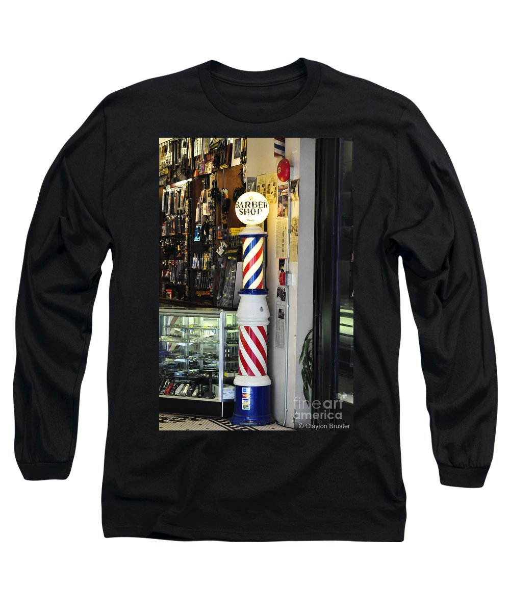 Clay Long Sleeve T-Shirt featuring the photograph Shave And A Haircut by Clayton Bruster