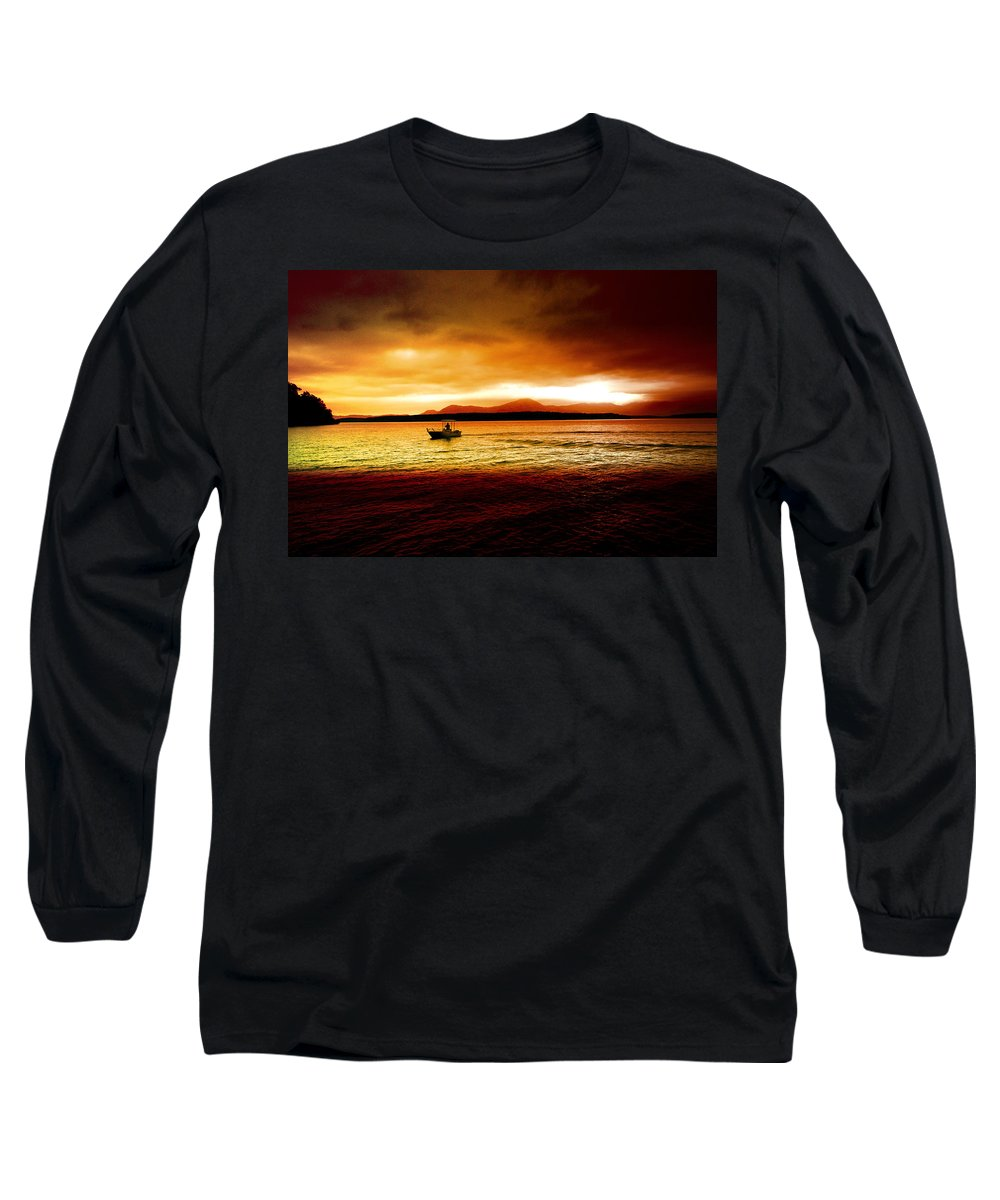 Landscape Long Sleeve T-Shirt featuring the photograph Shores Of The Soul by Holly Kempe