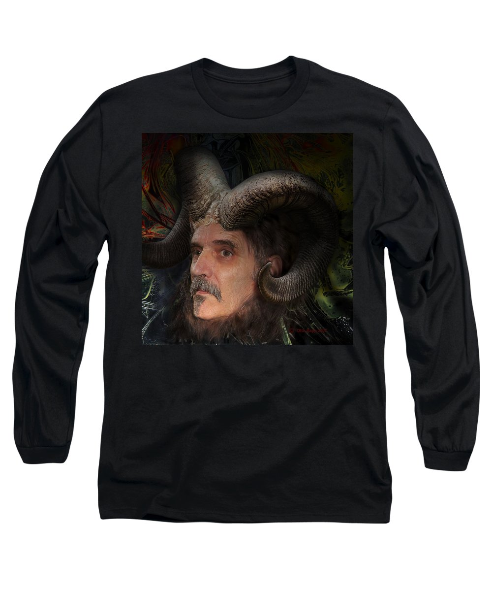 Surrealism Long Sleeve T-Shirt featuring the digital art Silenus by Otto Rapp