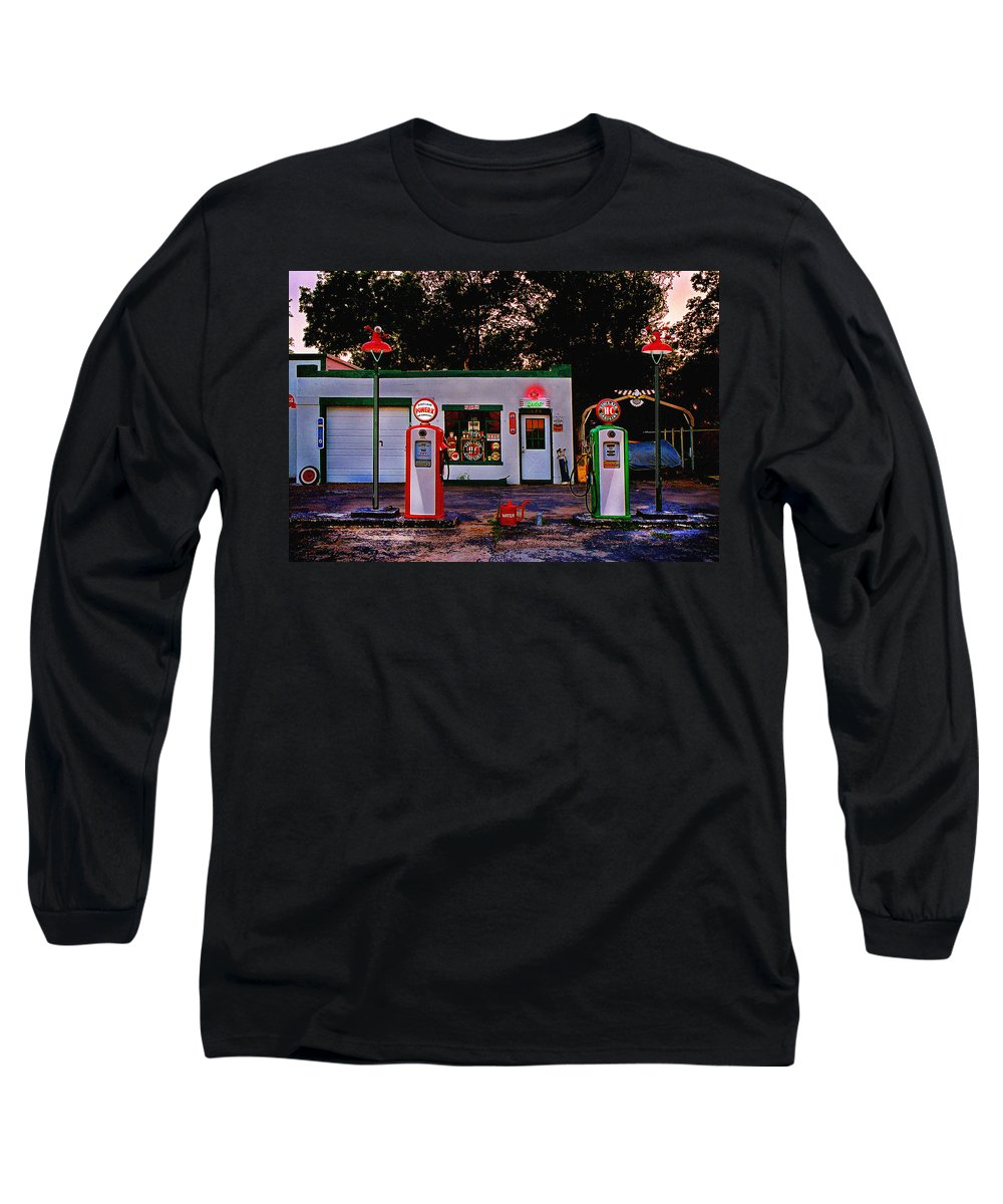 Gas Station Long Sleeve T-Shirt featuring the photograph Sinclair by Steve Karol