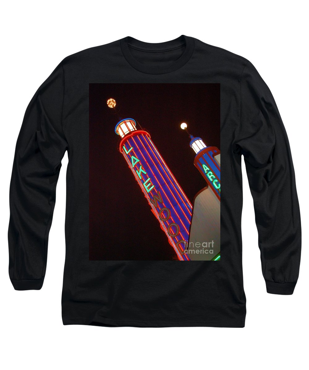 Neon Long Sleeve T-Shirt featuring the photograph Sky Lights by Debbi Granruth
