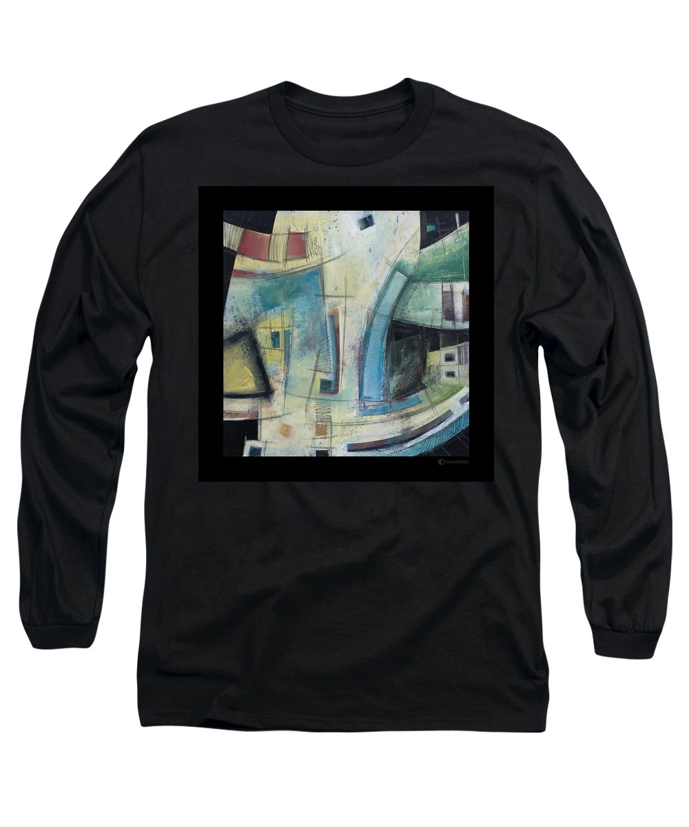 Abstract Long Sleeve T-Shirt featuring the painting Small Town Blues by Tim Nyberg