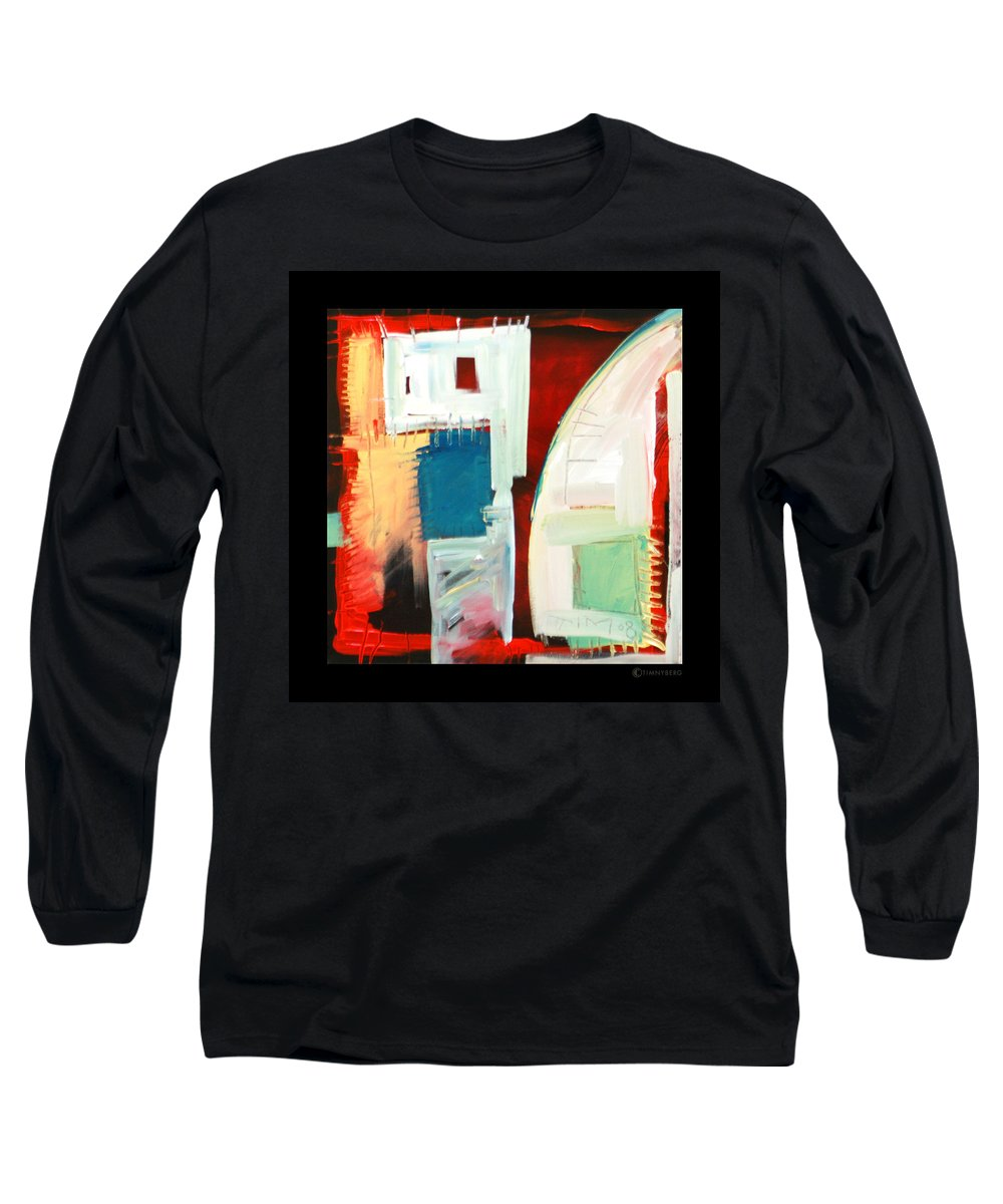 Color Long Sleeve T-Shirt featuring the painting Smilin by Tim Nyberg