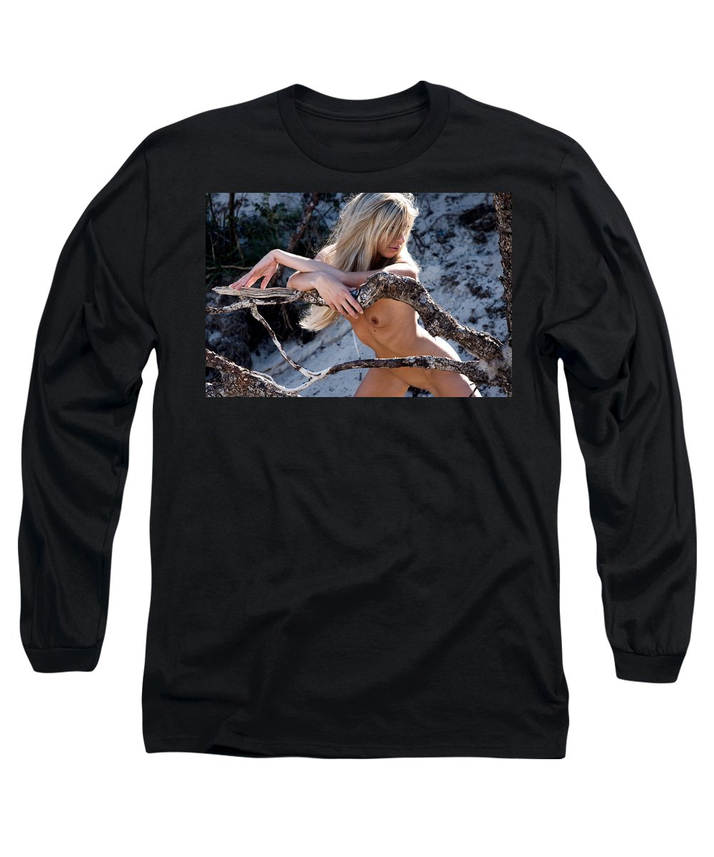 Sensual Long Sleeve T-Shirt featuring the photograph So Far Away by Olivier De Rycke