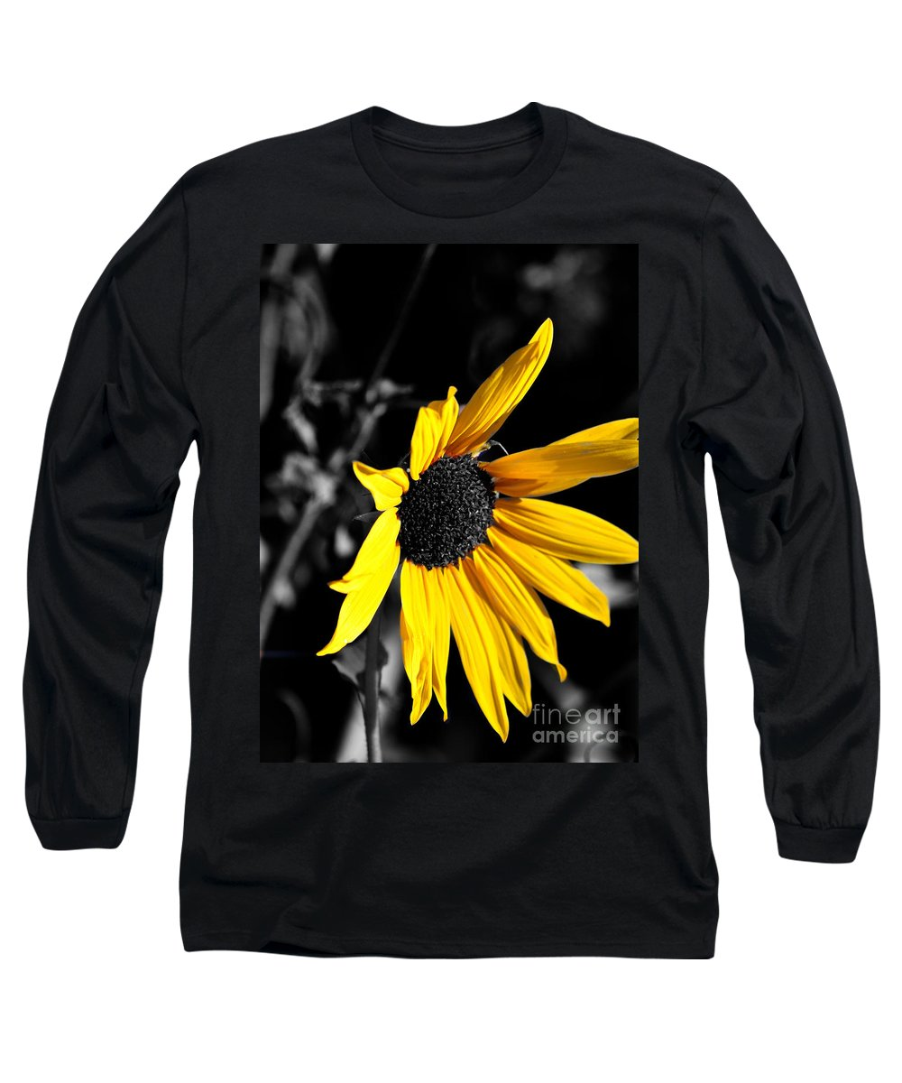 Clay Long Sleeve T-Shirt featuring the photograph Soaking Up The Yellow Sunshine by Clayton Bruster