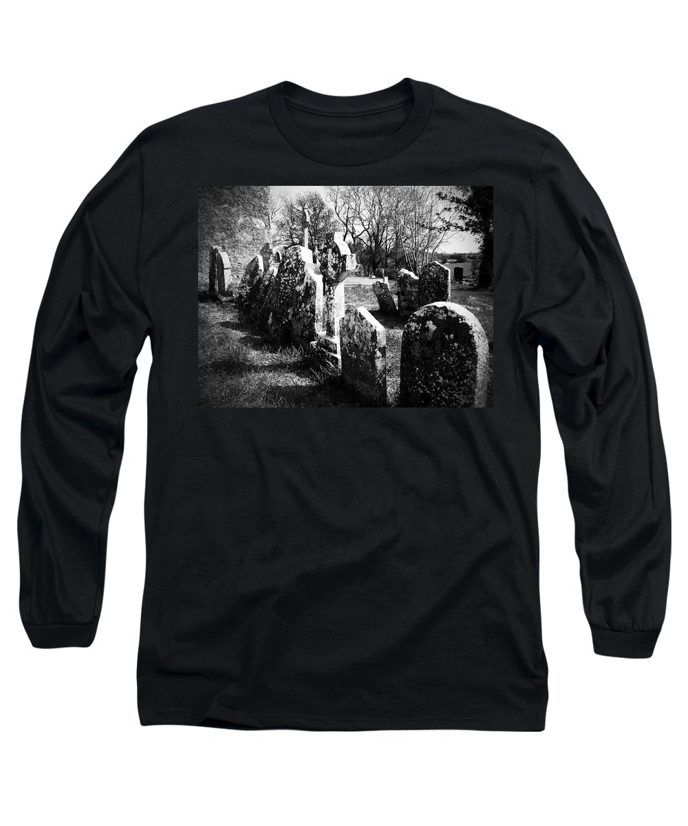 Ireland Long Sleeve T-Shirt featuring the photograph Solitary Cross At Fuerty Cemetery Roscommon Irenand by Teresa Mucha