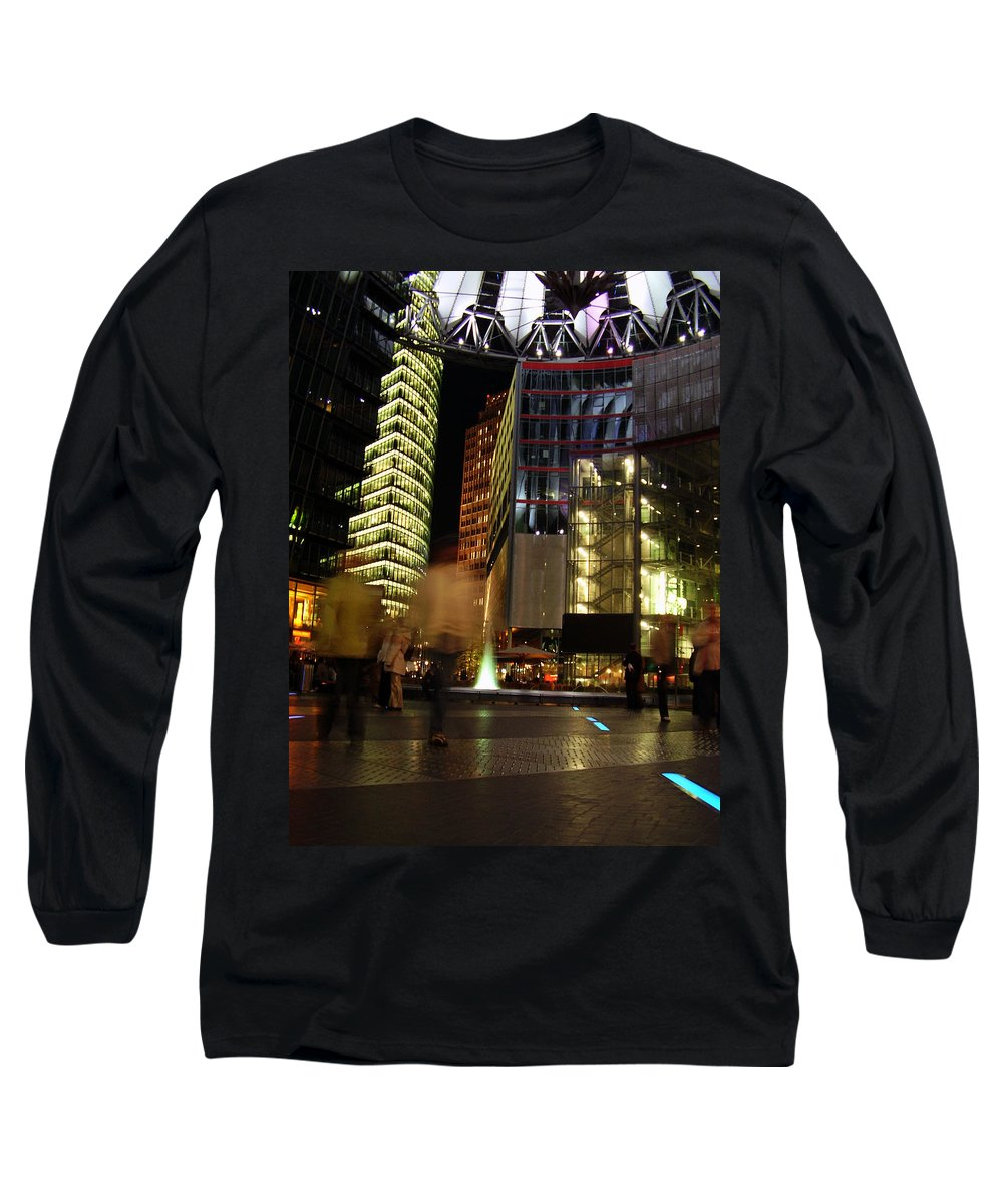 Sony Center Long Sleeve T-Shirt featuring the photograph Sony Center by Flavia Westerwelle
