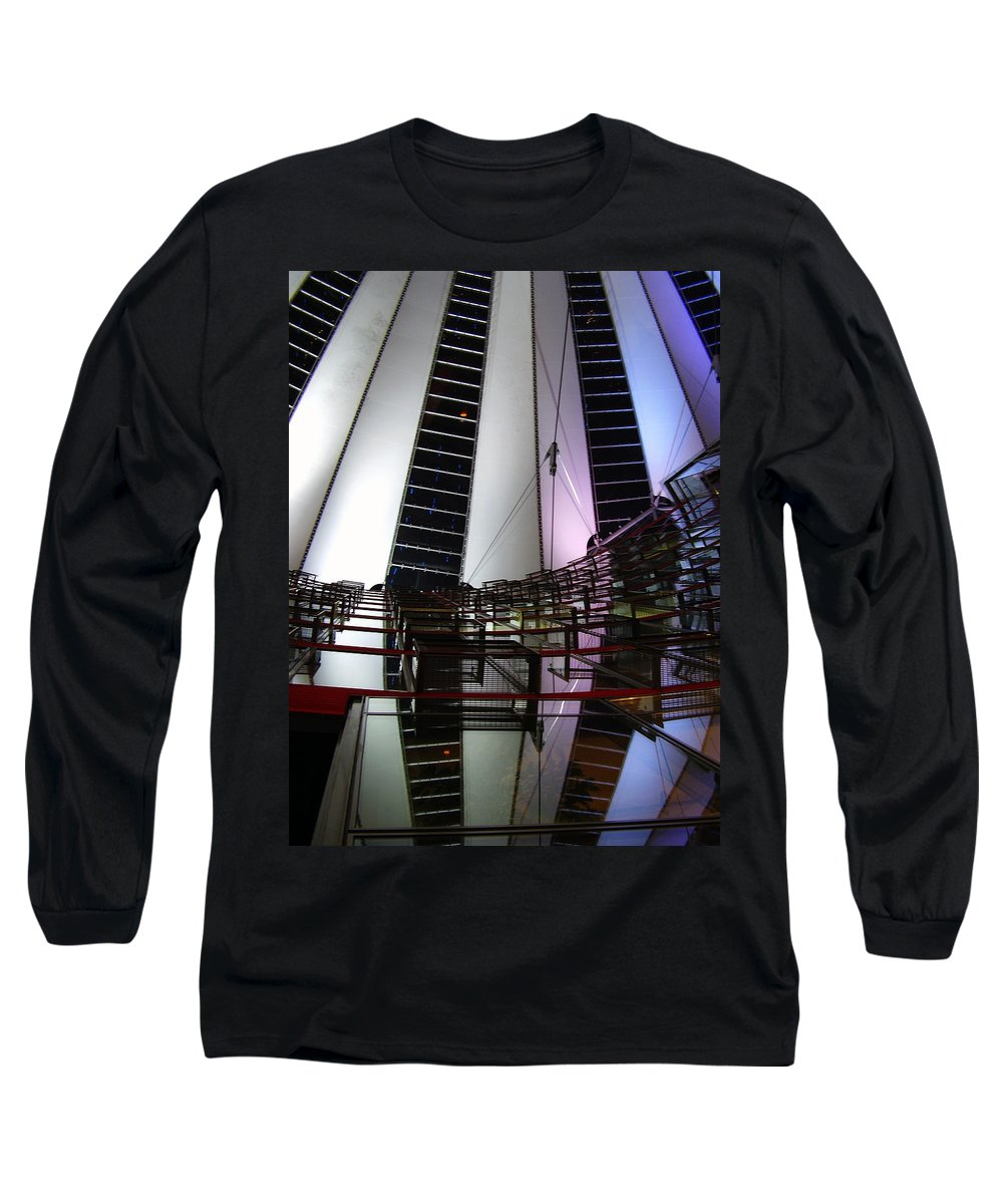 Sony Center Long Sleeve T-Shirt featuring the photograph Sony Center II by Flavia Westerwelle