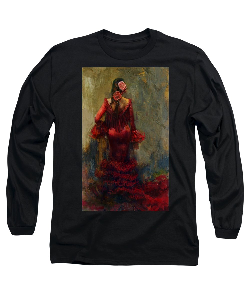 Spanish Long Sleeve T-Shirt featuring the painting Spanish Culture 22 by Corporate Art Task Force