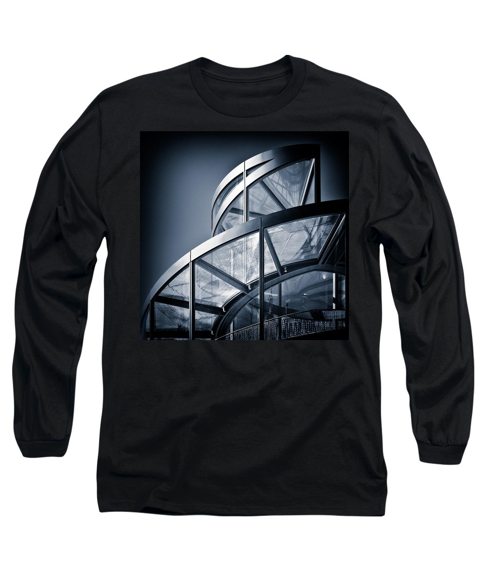 Spiral Long Sleeve T-Shirt featuring the photograph Spiral Staircase by Dave Bowman