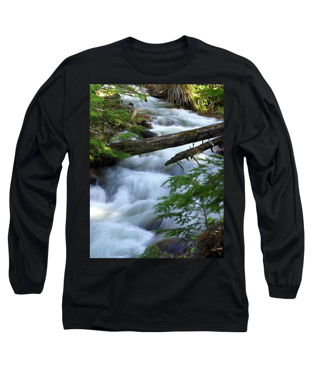 Glacier National Park Long Sleeve T-Shirt featuring the photograph Sprague Creek Glacier National Park by Marty Koch