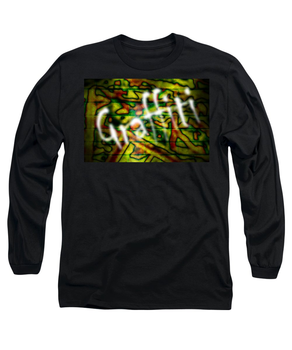 Graffiti Long Sleeve T-Shirt featuring the photograph Spray Painted Graffiti by Phill Petrovic