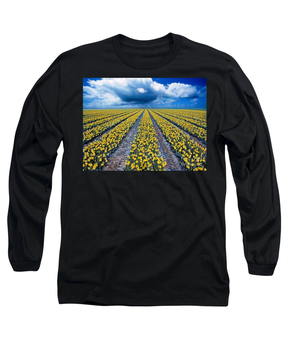 Flowers Long Sleeve T-Shirt featuring the photograph Spring Fields by Jacky Gerritsen