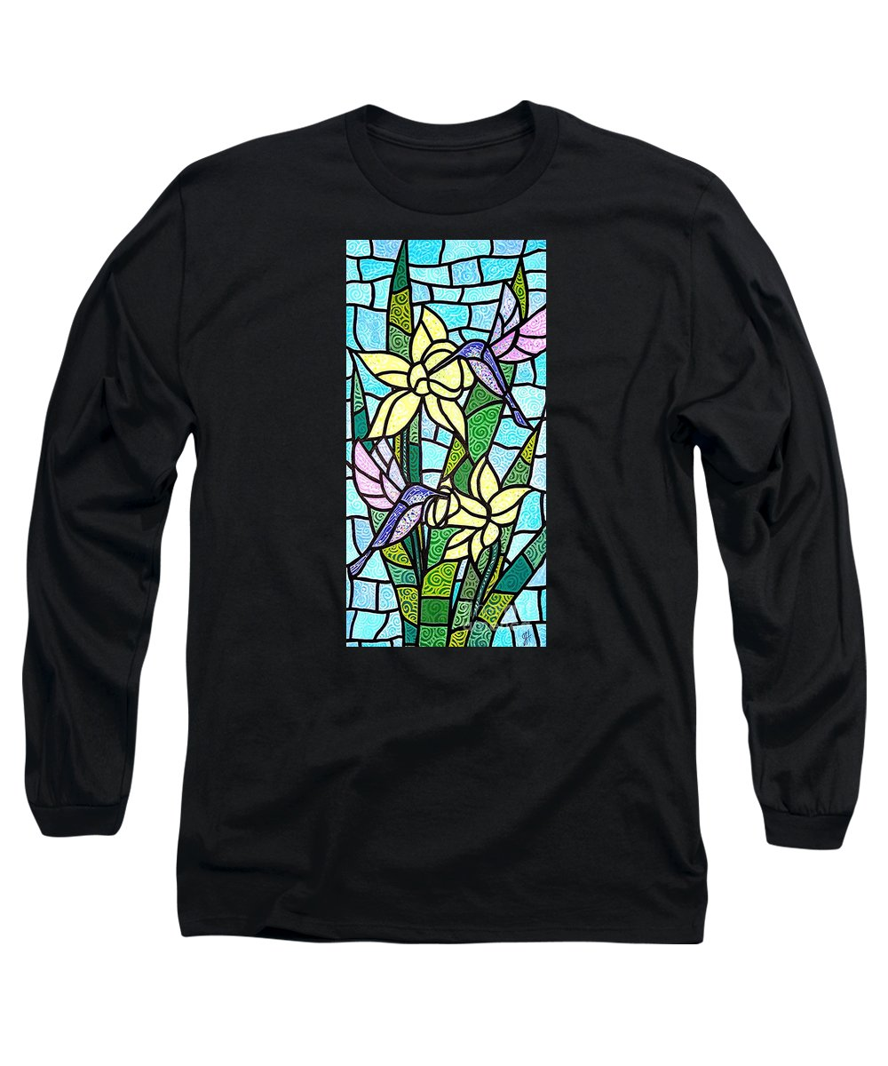 Flowers Long Sleeve T-Shirt featuring the painting Spring Fling by Jim Harris