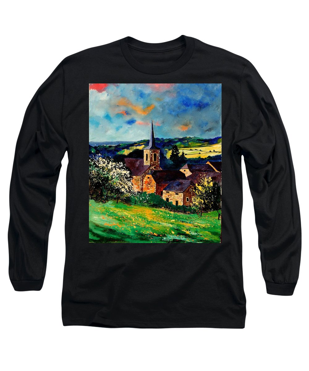 Spring Long Sleeve T-Shirt featuring the painting Spring In Gendron by Pol Ledent