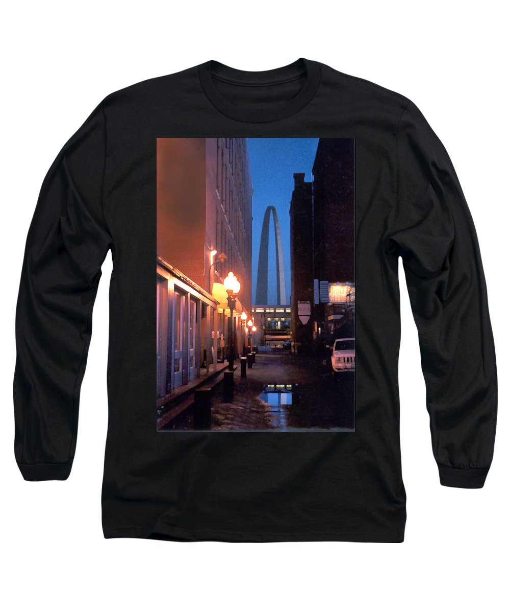 St. Louis Long Sleeve T-Shirt featuring the photograph St. Louis Arch by Steve Karol