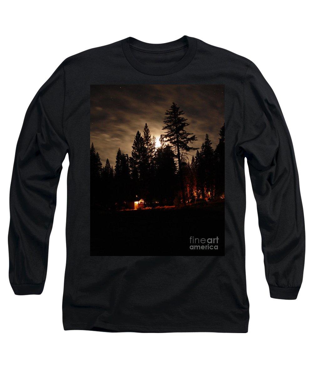 Moonlight Long Sleeve T-Shirt featuring the photograph Star Lit Camp by Peter Piatt