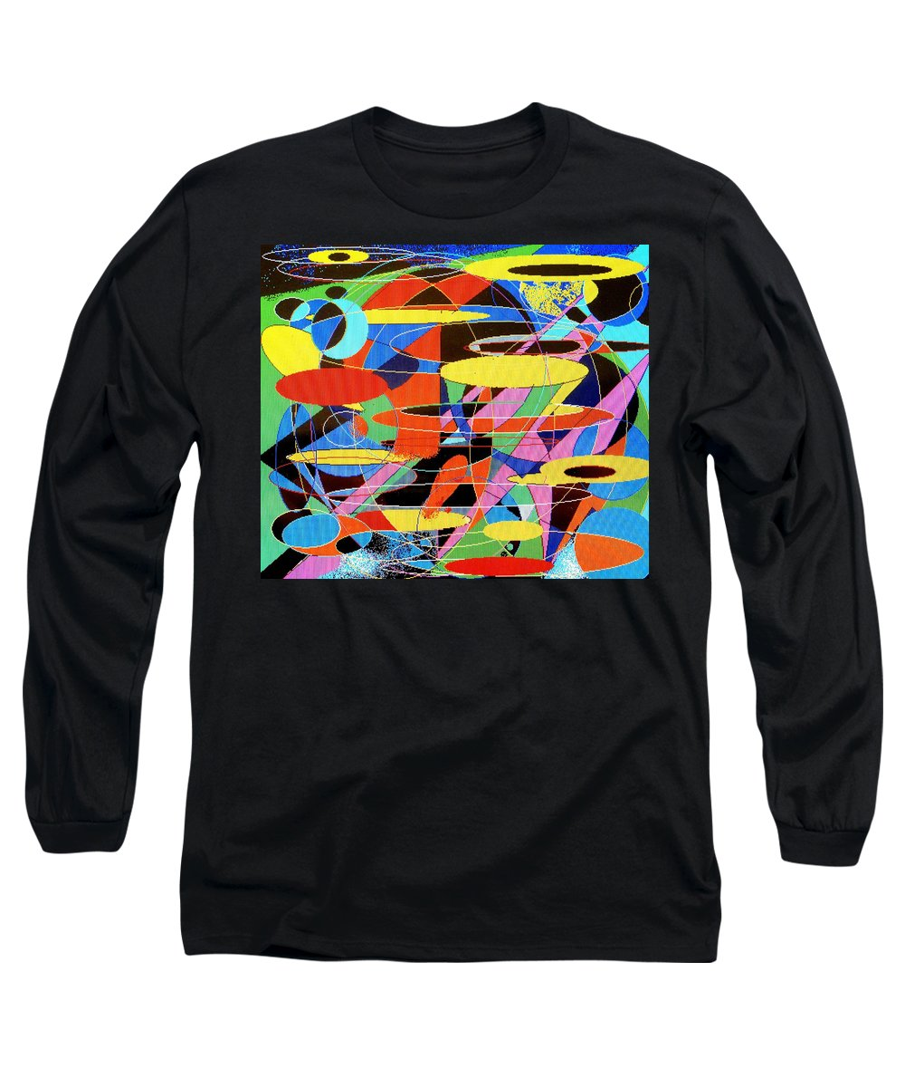 Abstract Long Sleeve T-Shirt featuring the digital art Star Wars by Ian MacDonald