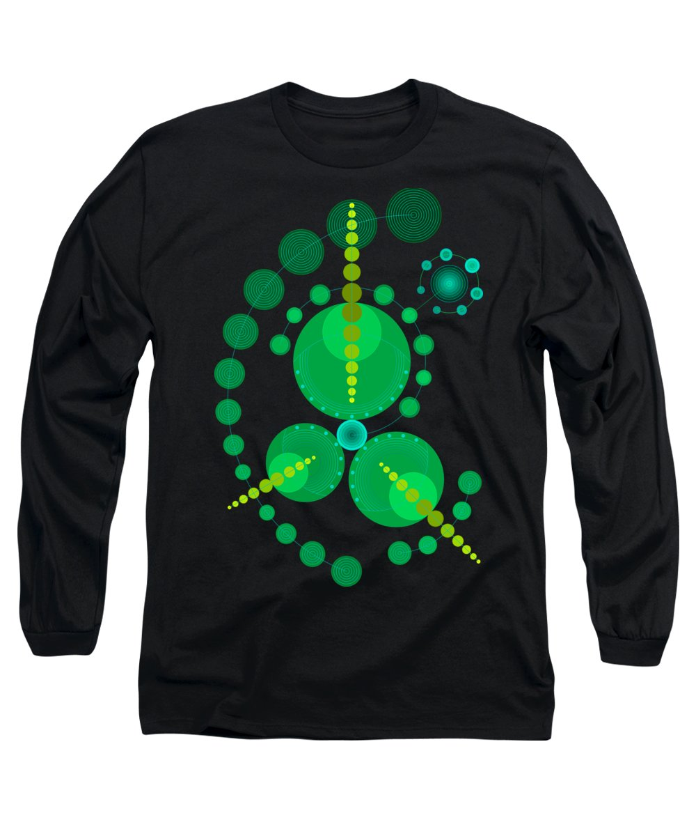 Relief Long Sleeve T-Shirt featuring the digital art Starship Color by DB Artist