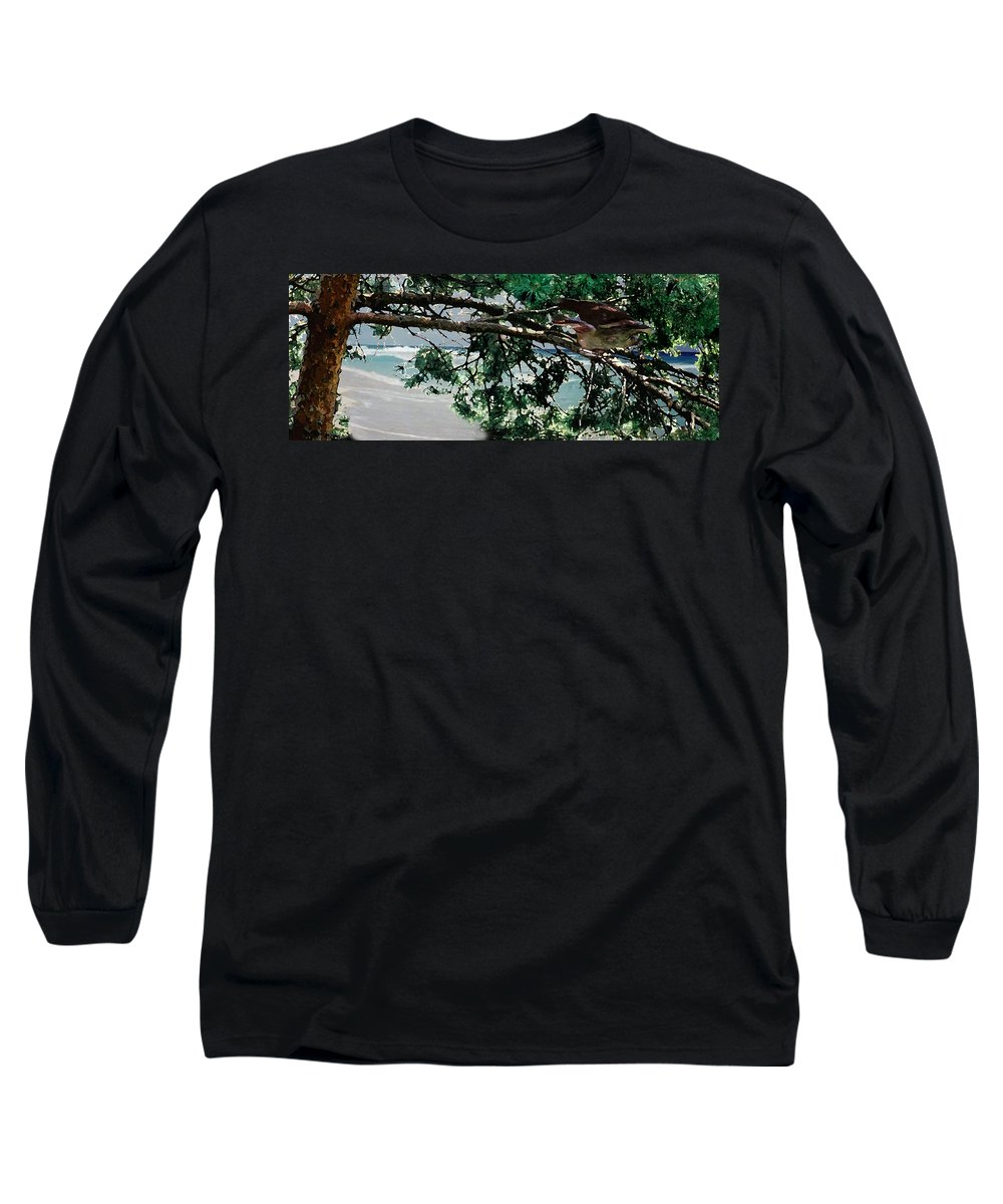 Landscape Long Sleeve T-Shirt featuring the painting Stealth by Steve Karol