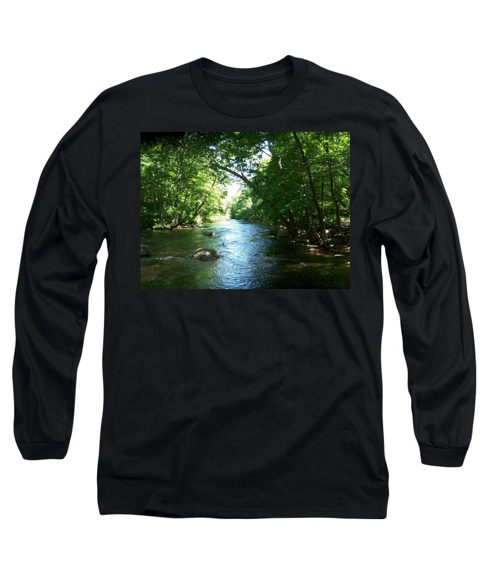 River Long Sleeve T-Shirt featuring the photograph Stephens State Park by Laurie Paci