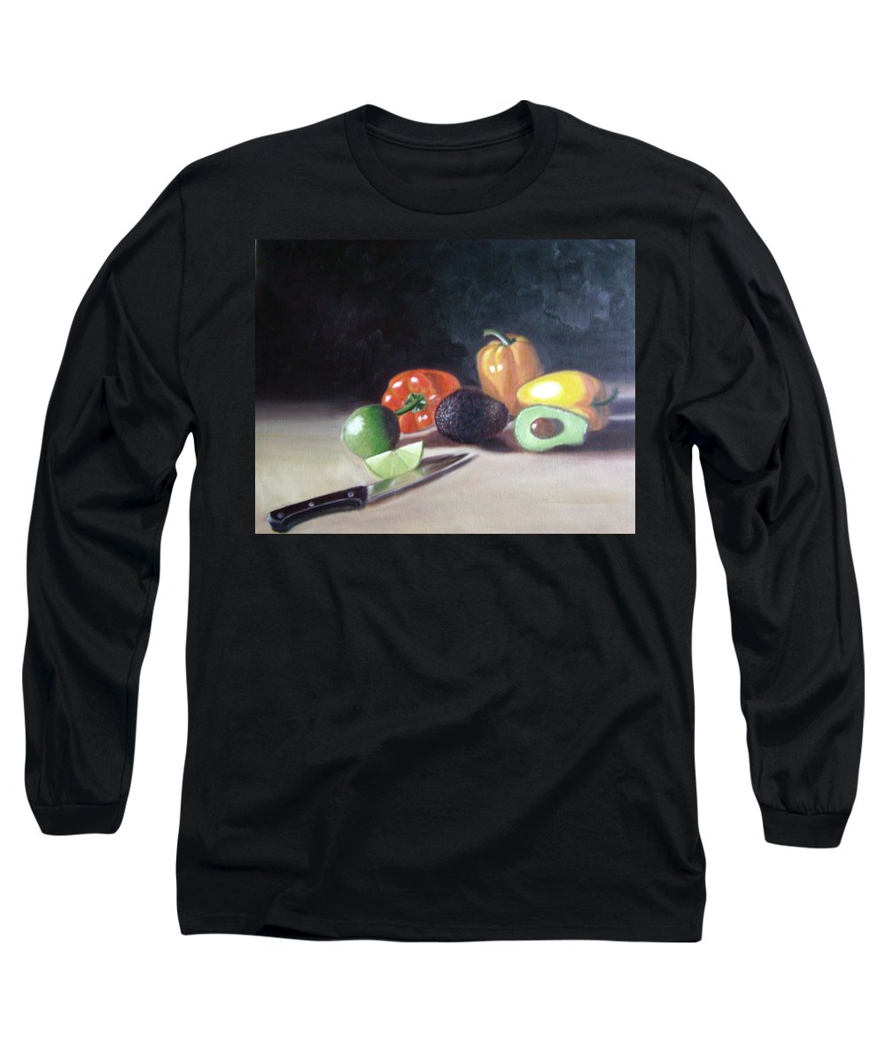 Long Sleeve T-Shirt featuring the painting Still-life by Toni Berry
