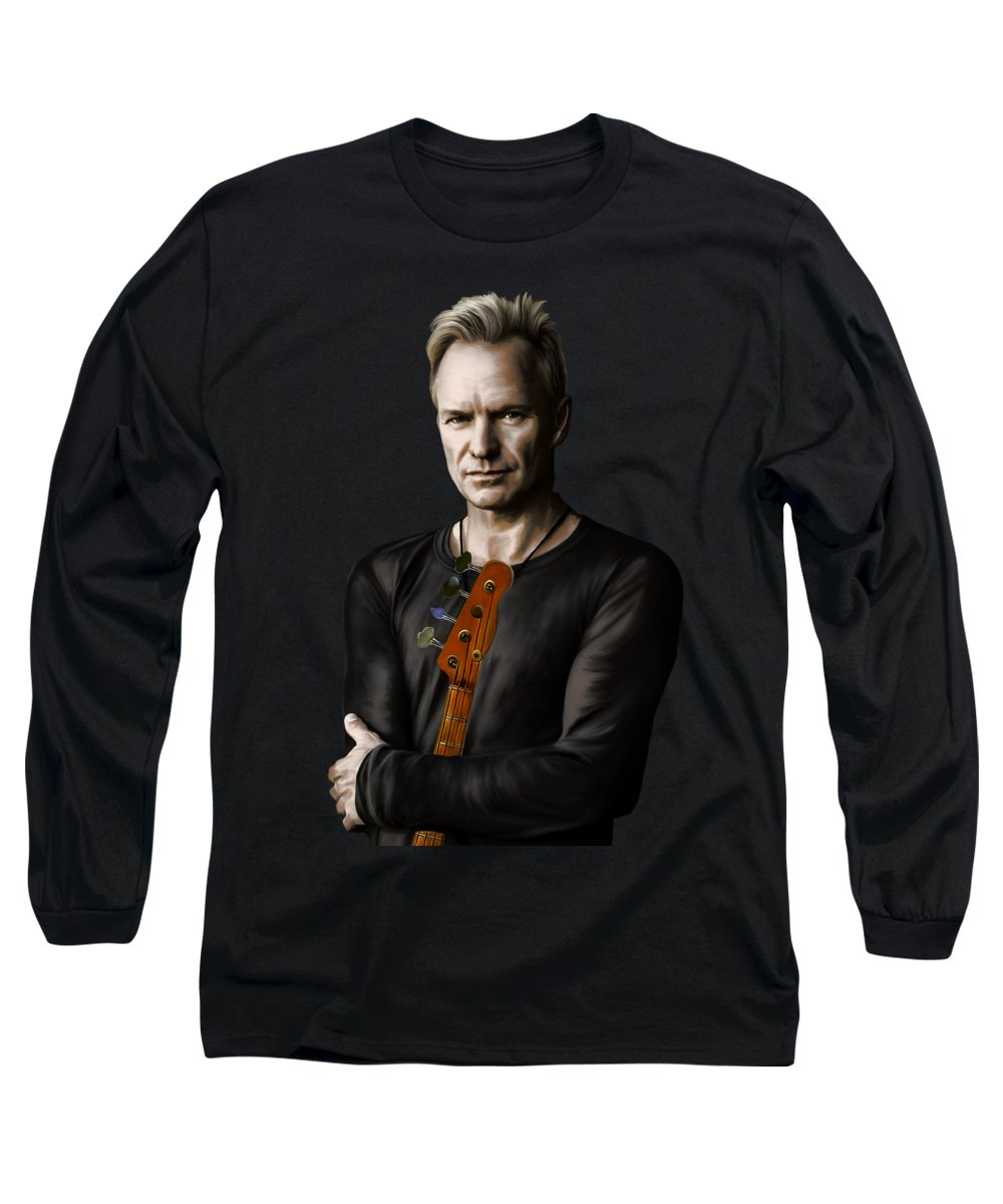 Jazz Age Digital Art Long Sleeve T-Shirts