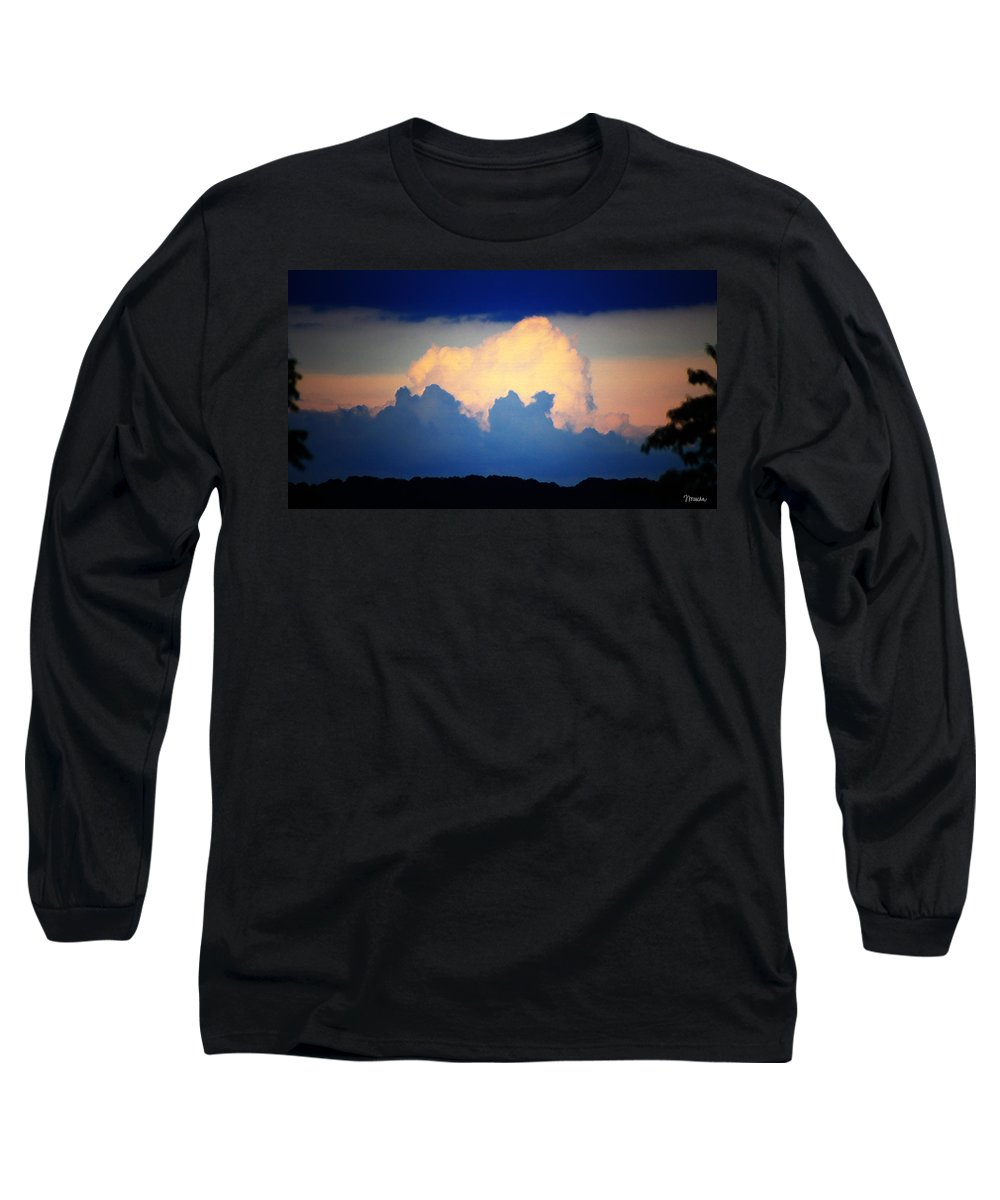 West Long Sleeve T-Shirt featuring the digital art Storm Approaching Painting by Teresa Mucha