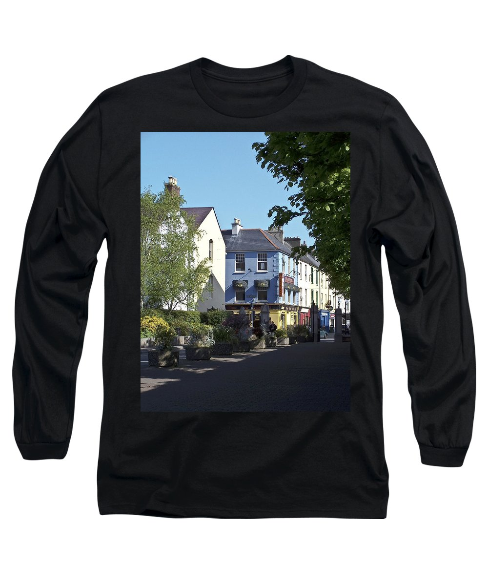Irish Long Sleeve T-Shirt featuring the photograph Street Corner In Tralee Ireland by Teresa Mucha
