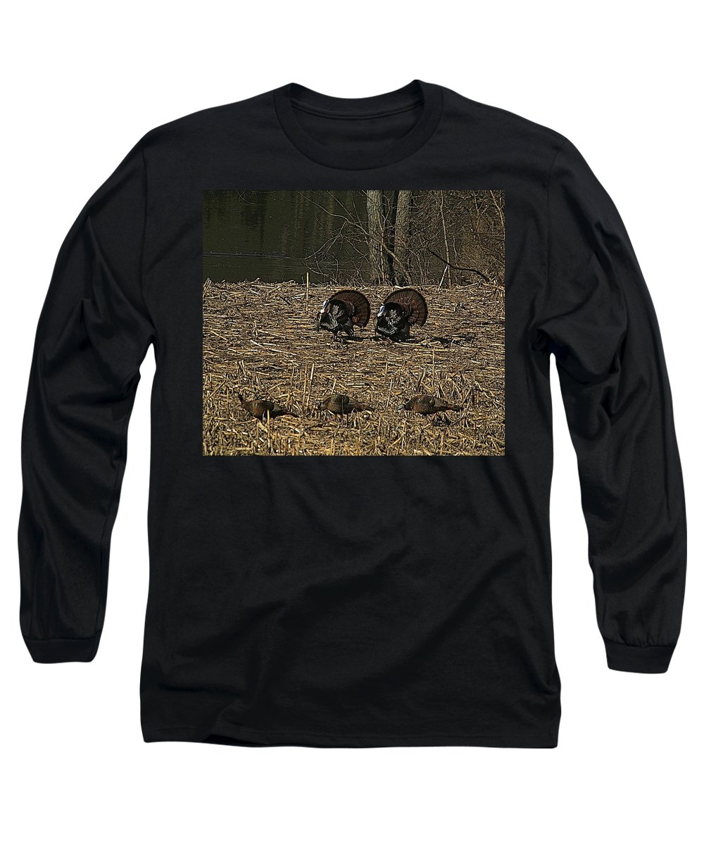 Turkey Long Sleeve T-Shirt featuring the photograph Strutin For The Ladies by Robert Pearson