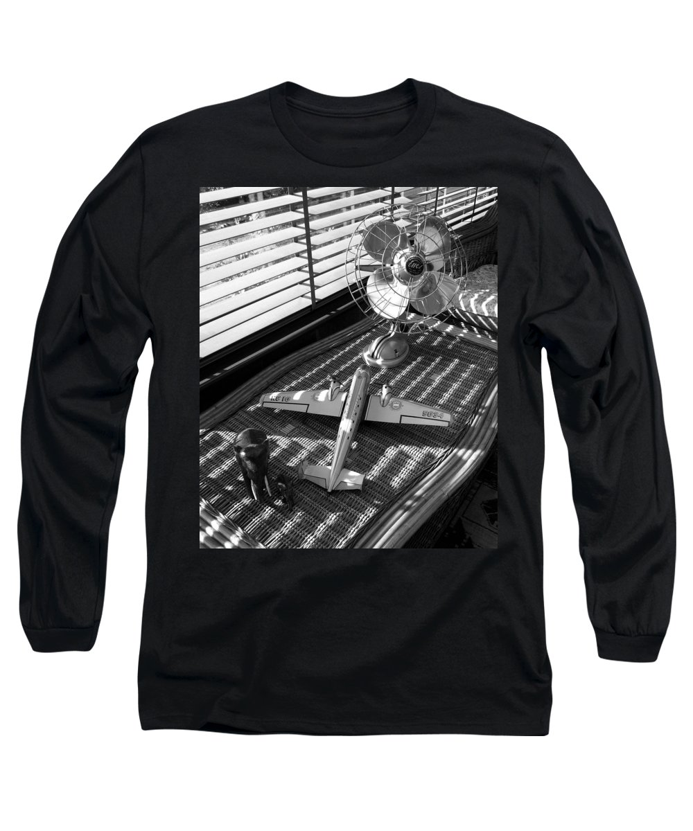 Still Life Long Sleeve T-Shirt featuring the photograph Suburban Runway by Charles Stuart