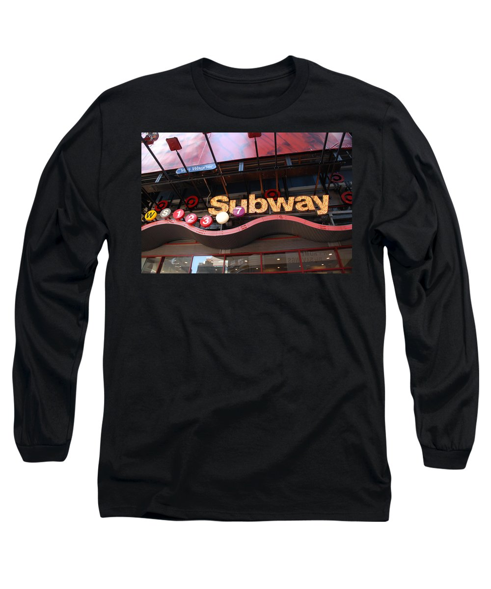 Neon Long Sleeve T-Shirt featuring the photograph Subway by Rob Hans