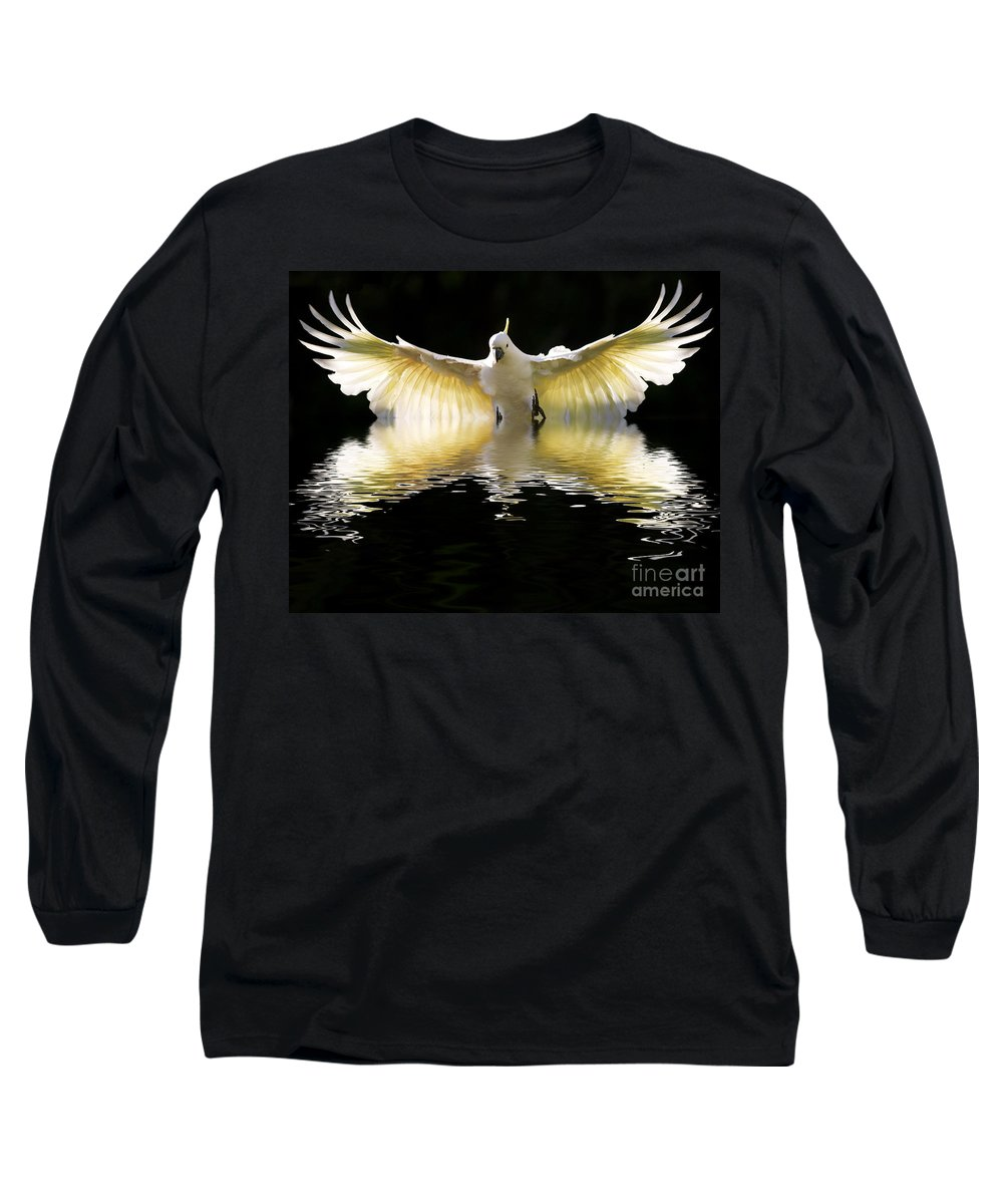 Bird In Flight Long Sleeve T-Shirt featuring the photograph Sulphur Crested Cockatoo Rising by Sheila Smart Fine Art Photography