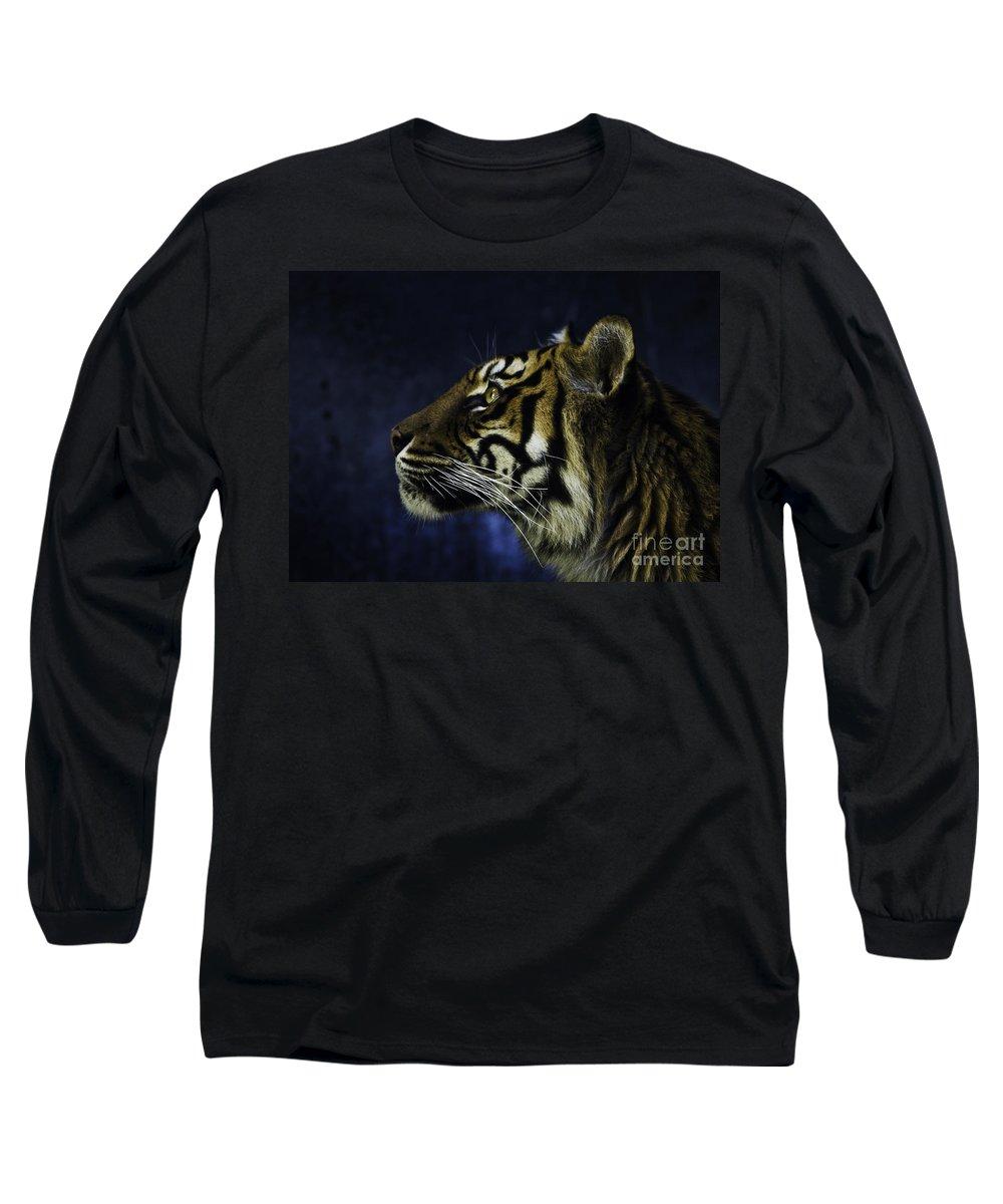 Sumatran Tiger Long Sleeve T-Shirt featuring the photograph Sumatran Tiger Profile by Avalon Fine Art Photography