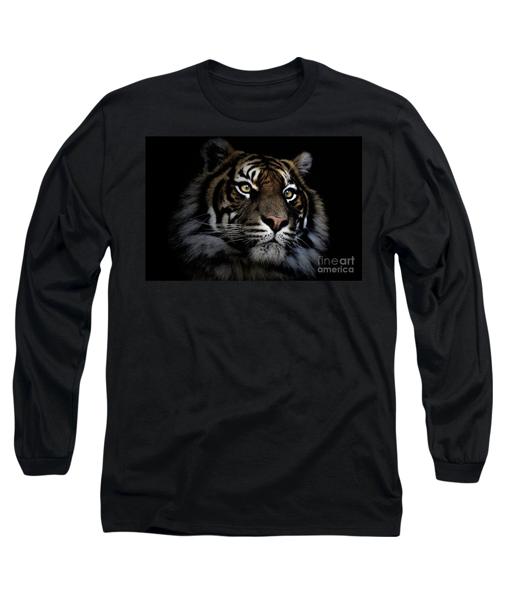 Sumatran Tiger Wildlife Endangered Long Sleeve T-Shirt featuring the photograph Sumatran Tiger by Sheila Smart Fine Art Photography