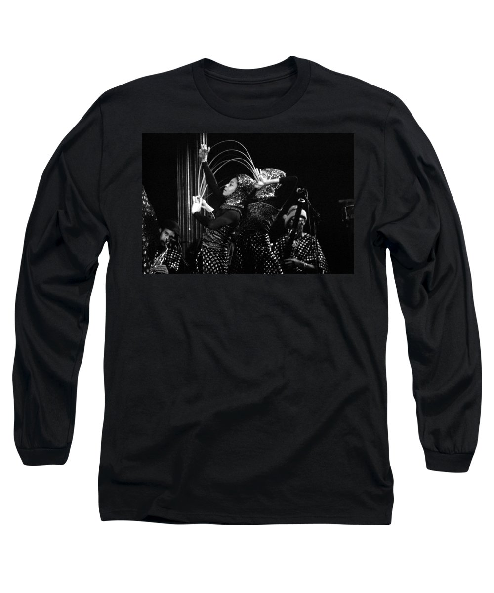 Sun Ra Long Sleeve T-Shirt featuring the photograph Sun Ra Arkestra And Dancers by Lee Santa
