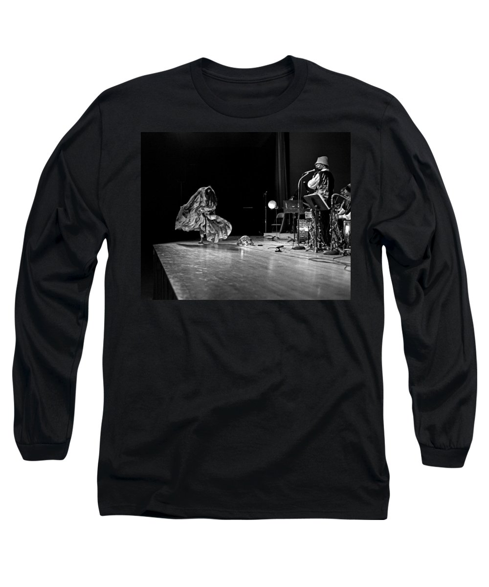 Jazz Long Sleeve T-Shirt featuring the photograph Sun Ra Arkestra At Freeborn Hall by Lee Santa