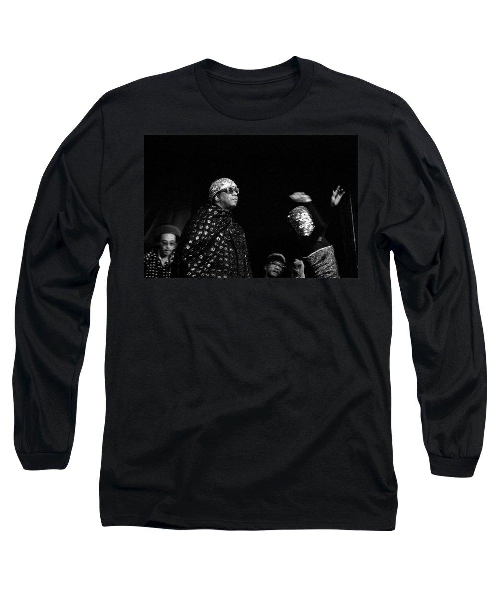 Jazz Long Sleeve T-Shirt featuring the photograph Sun Ra by Lee Santa