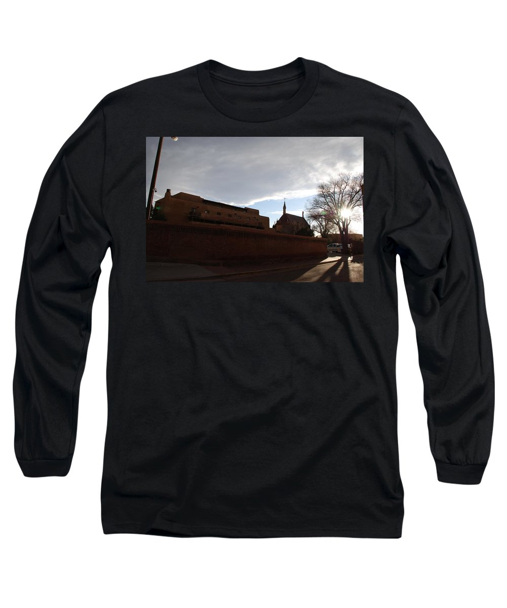 New Mexico Long Sleeve T-Shirt featuring the photograph Sun Thru The Trees by Rob Hans