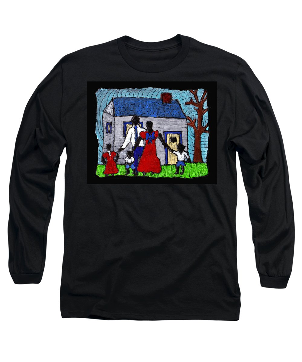 Family Long Sleeve T-Shirt featuring the painting Sunday Morning Finest by Wayne Potrafka