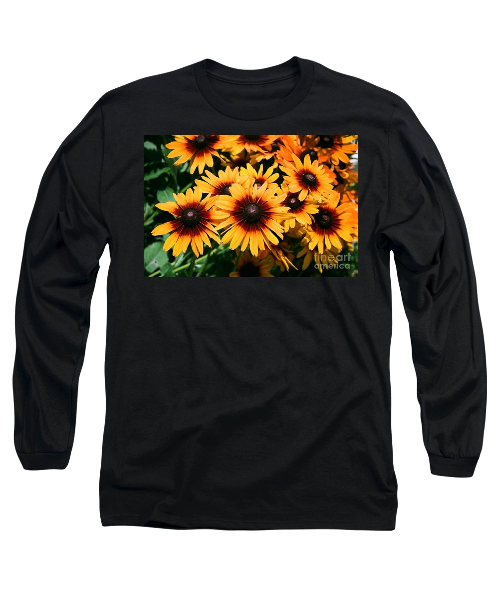 Sunflowers Long Sleeve T-Shirt featuring the photograph Sunflowers by Dean Triolo