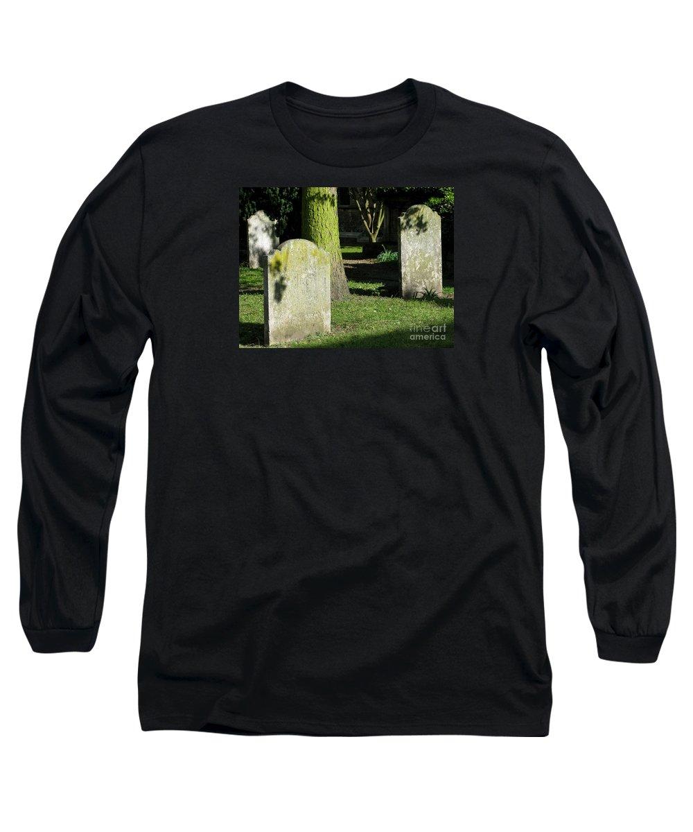 Churchyard Long Sleeve T-Shirt featuring the photograph Sunlit Churchyard by Ann Horn