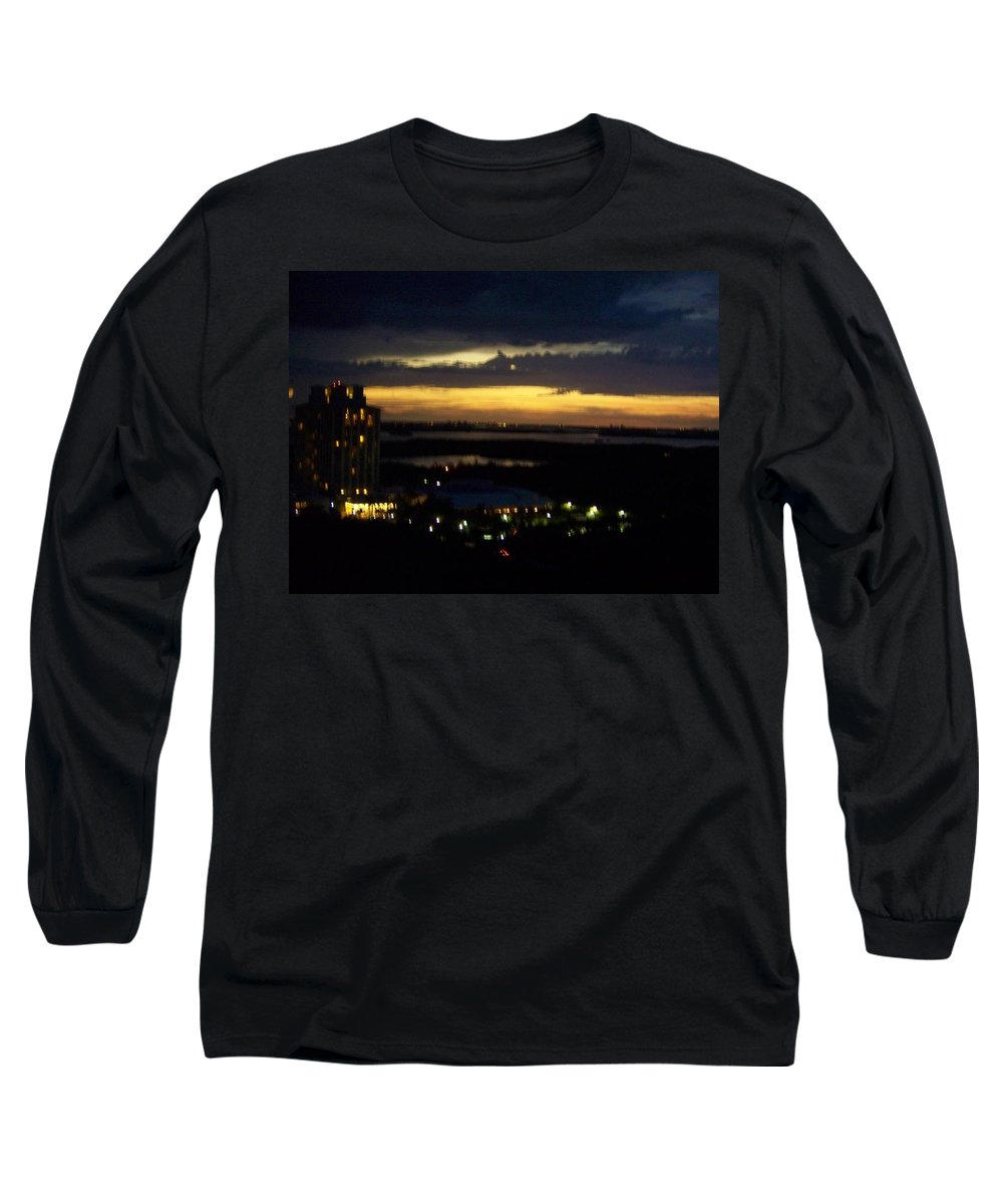 Sunset Long Sleeve T-Shirt featuring the photograph Sunset 0002 by Laurie Paci