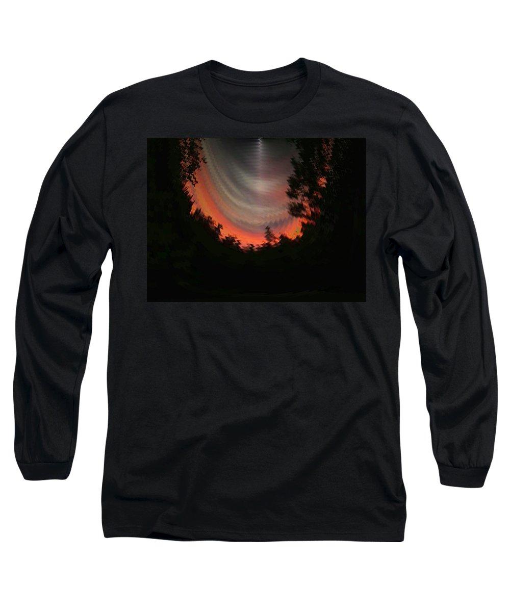 Sunset Long Sleeve T-Shirt featuring the digital art Sunset 3 by Tim Allen