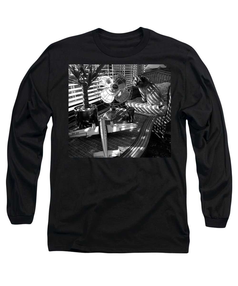 Still Life Long Sleeve T-Shirt featuring the painting Surburban Safari With Toto by Charles Stuart