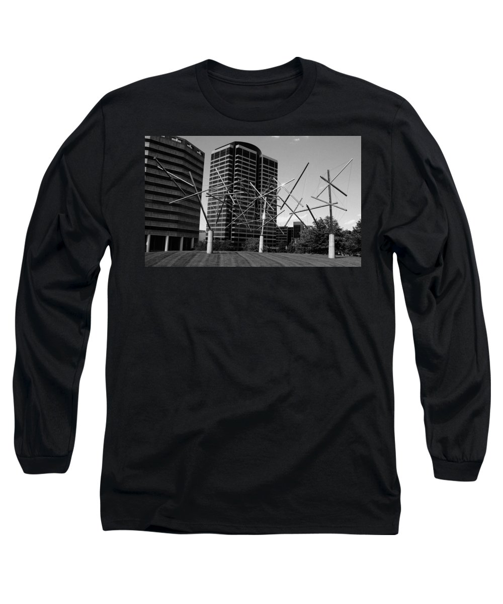 Metal Long Sleeve T-Shirt featuring the photograph Suspended by Angus Hooper Iii